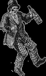 Mann mit Gin Herkunft und Geschichte
